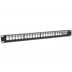 Patch panel 24-porty Keystone