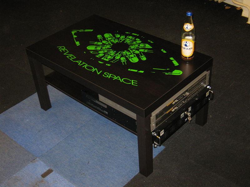 LackRack - Szafa RACK 19 Ze Stolika IKEA - wzór kosmiczny
