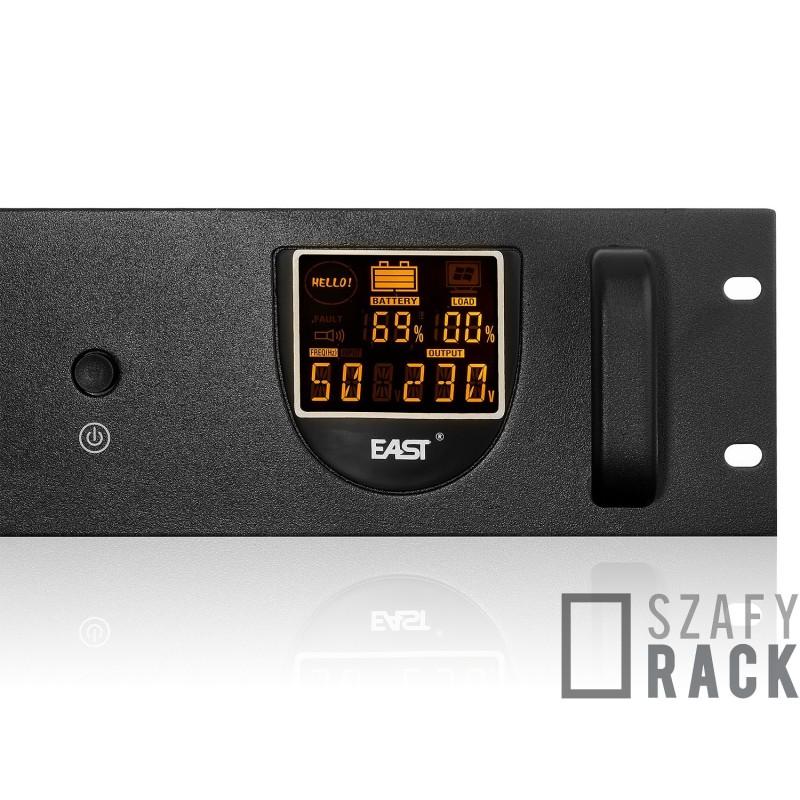 Zasilacz Awaryjny UPS RACK - Wyświetlacz LCD