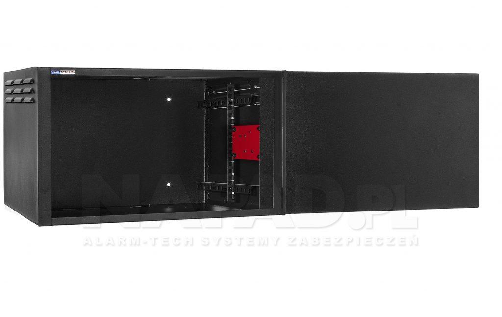 sejf - wnętrze szafy rack