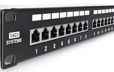 Patch panel 24-portów UTP6