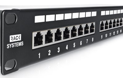 Patch panel 24-portów FTP6 19""